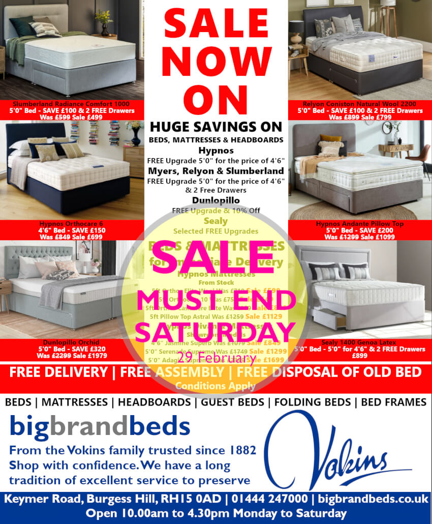 Bed Sale Advert Ends 29 February