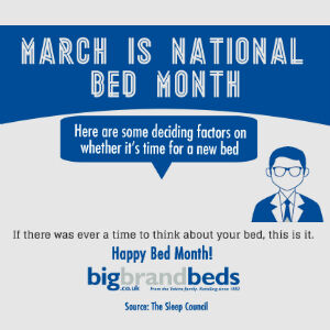 National Bed Month Infographic. Do you need a new mattress?