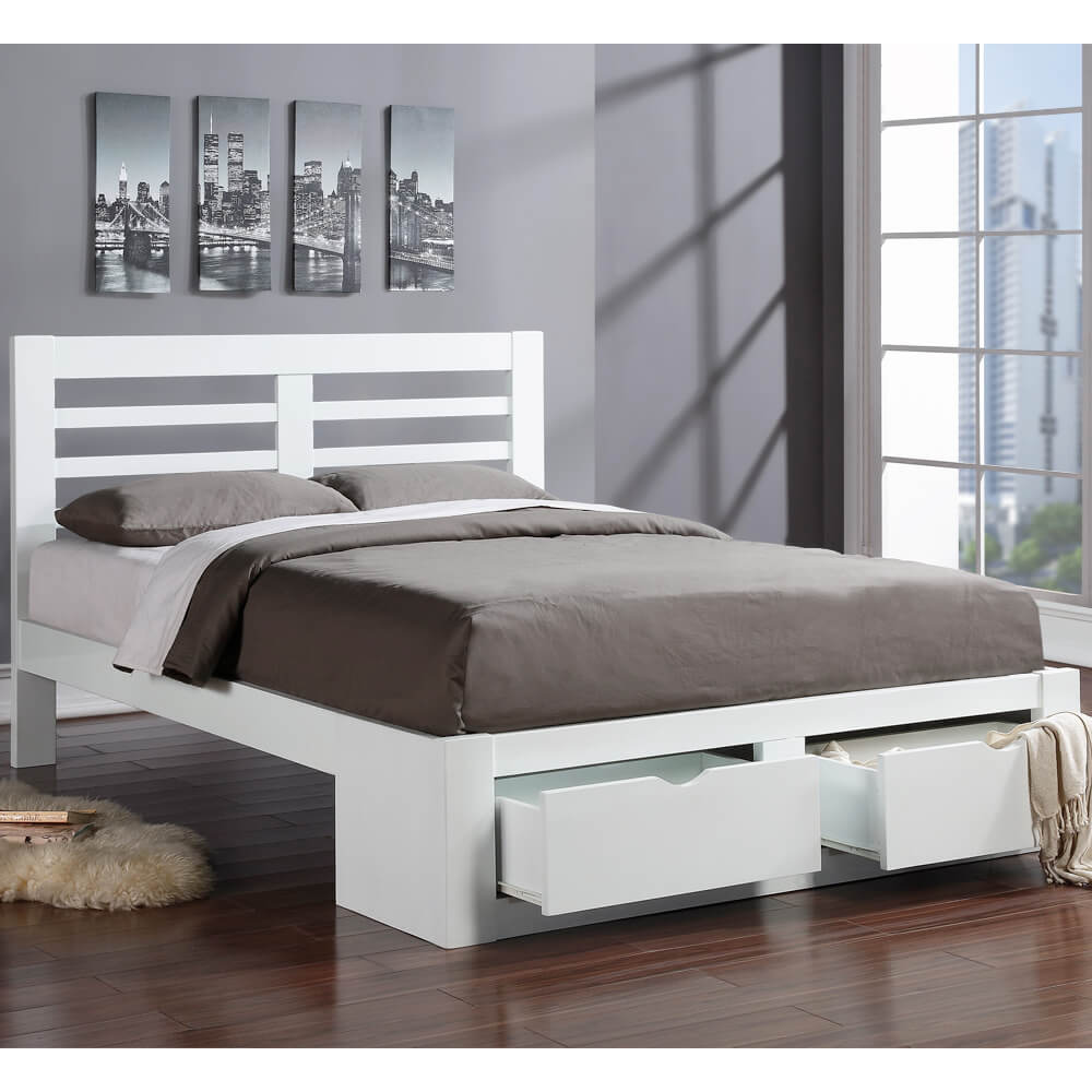 Flintshire Furniture New Bretton White Bed Frame