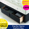 King Size Hypnos 2 Drawer EasyStore Base