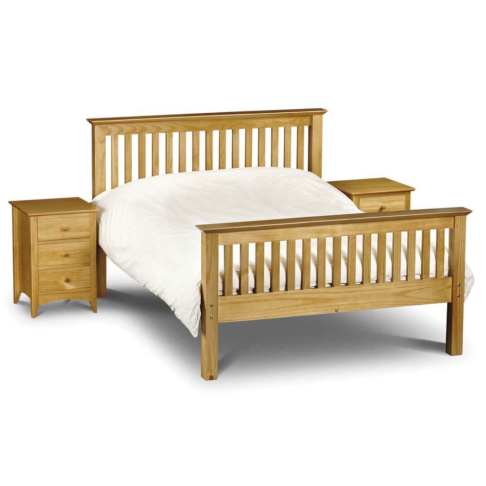 Julian Bowen Barcelona High Foot End Pine Bed Frame
