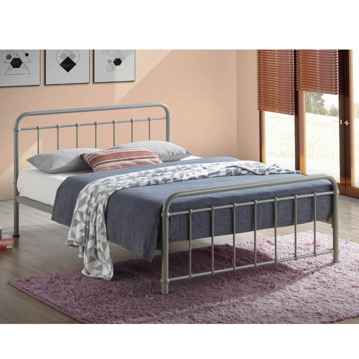 Time Living Miami Bed Frame Pebble
