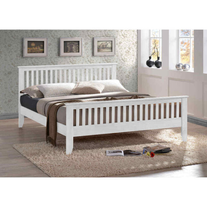 Time Living Turin Bed Frame White