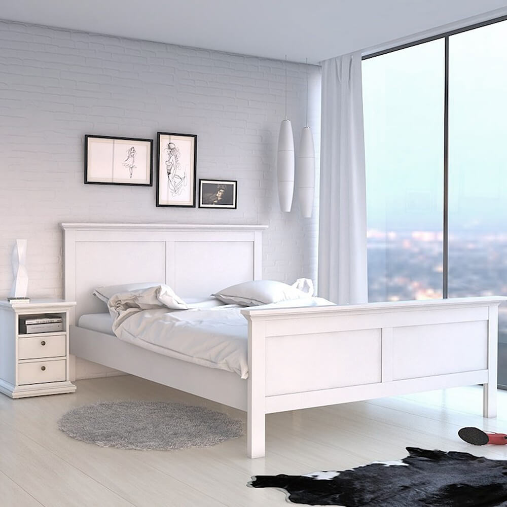 Paris White Bed Frame
