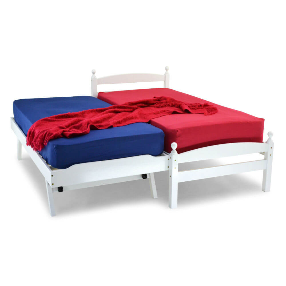 Palermo 2 in 1 Guest Bed White