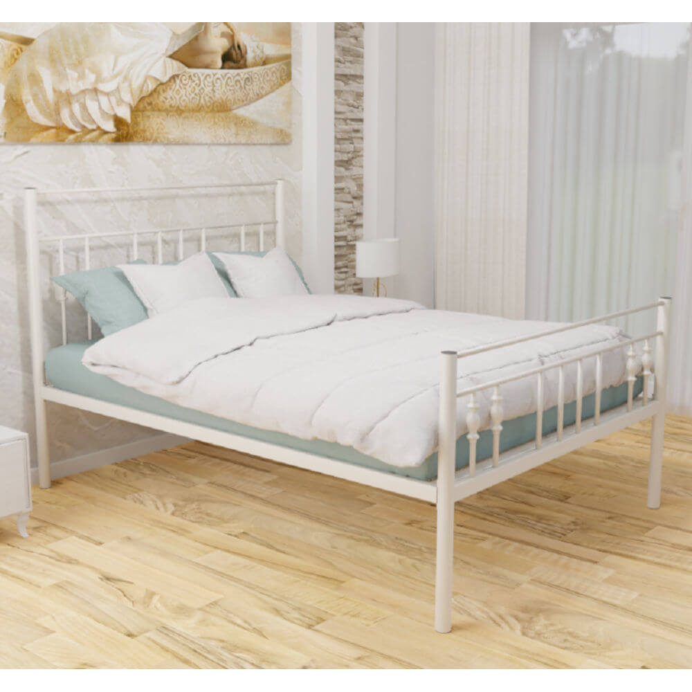 Zoe High Foot End Bed Frame Ivory