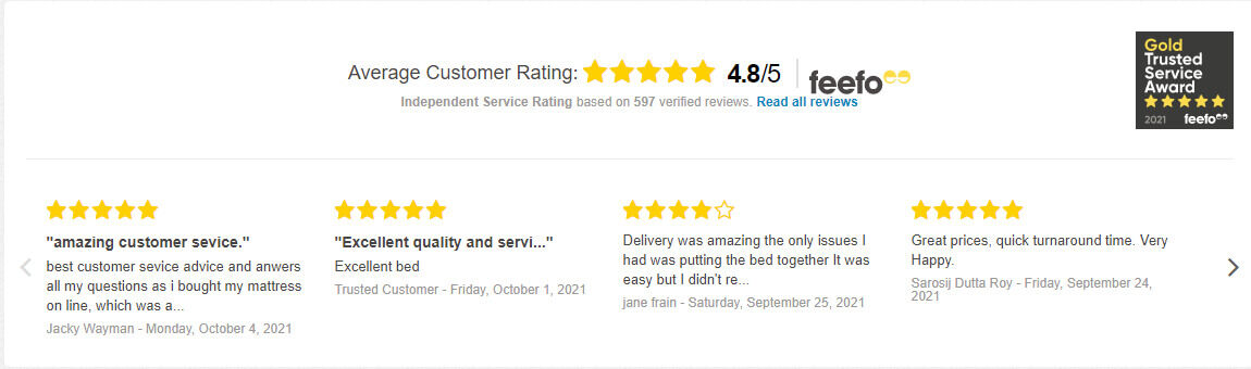 Click for more great independent review on Feefo