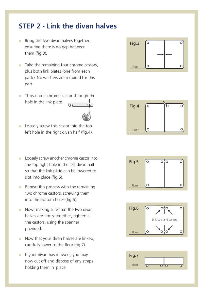 Hypnos Divan Bed Assembly Instructions