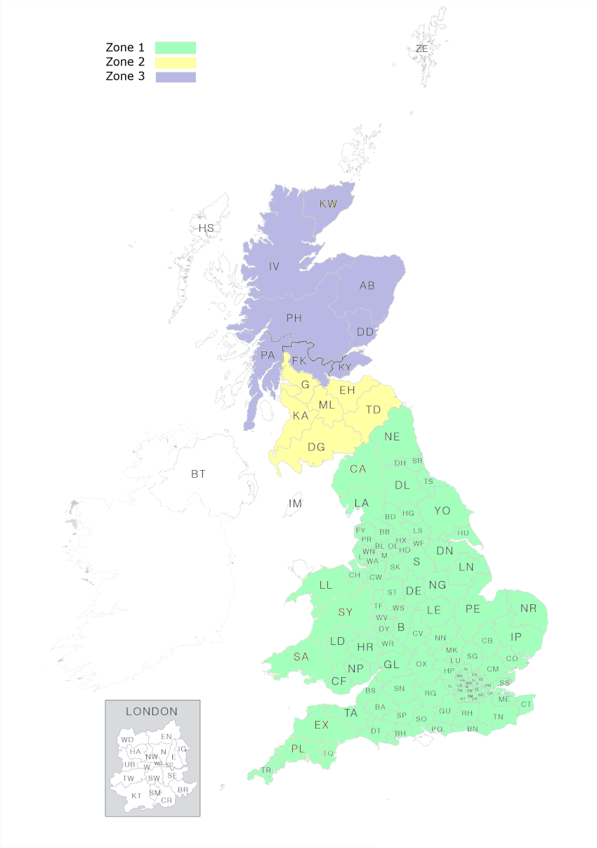 Julian Bowen Delivery Map