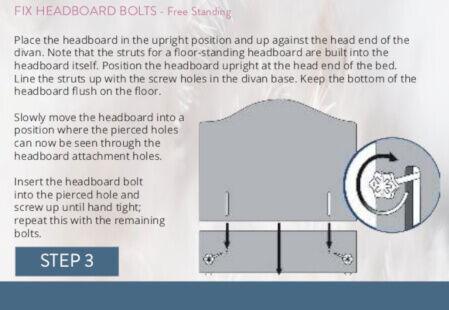Sleepeezee headboard fitting Floor Standing