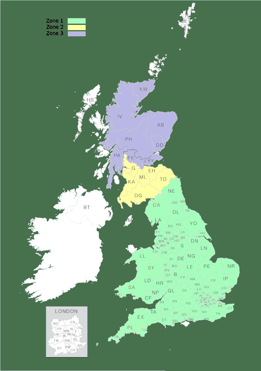 Stuart Jones Delivery Map