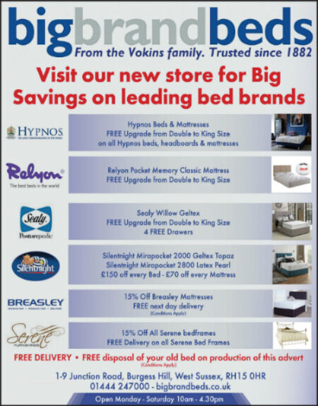 Bed & Mattress Advert Mid Sussex Leader February 18 2016