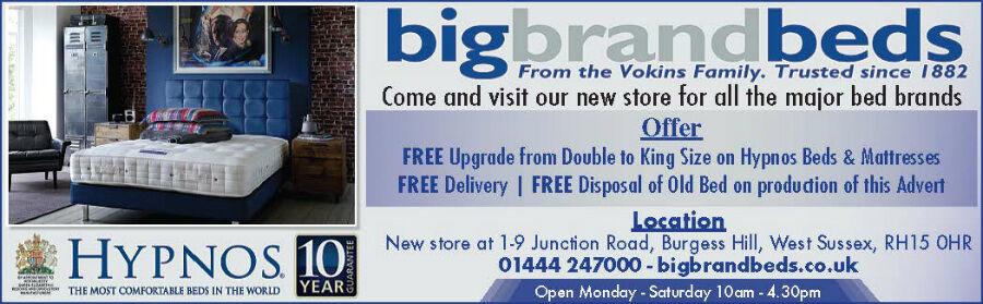 Hypnos Bed & Mattress Advert Brighton & Hove Leader March 3 2016