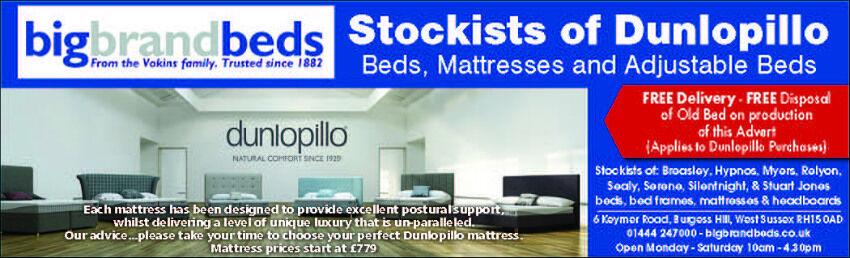 Stockists of Dunlopillo
