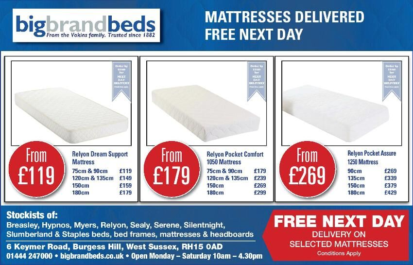 Half Page advert in the Mid Sussex Times and West Sussex Gazette