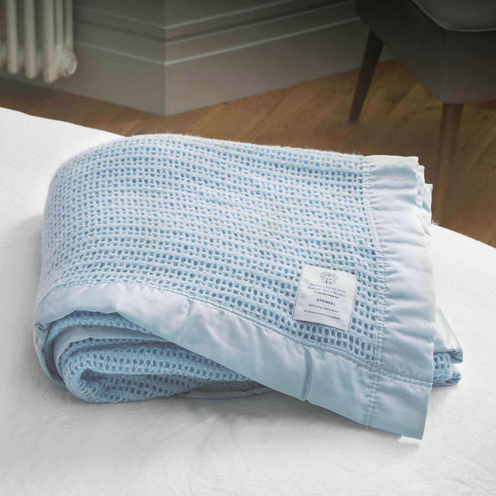 John Atkinson Atkincel Cellular Wool Blanket Double