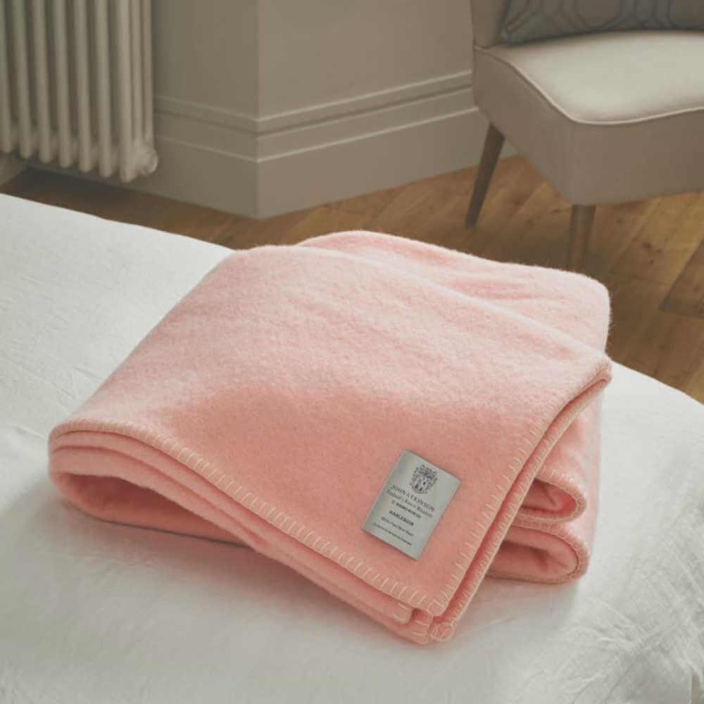 King Size John Atkinson Harlequin Wool Blanket