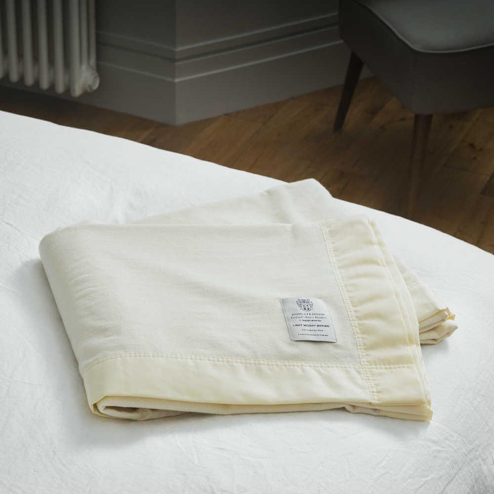 John Atkinson Lightweight Merino Wool Blanket Double