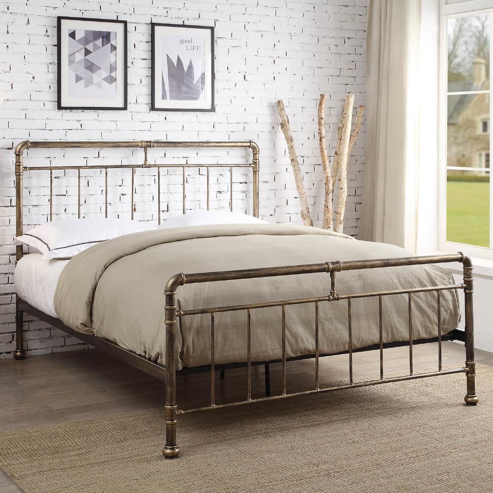 Flintshire Furniture Cilcain Antique Bronze Bed Frame