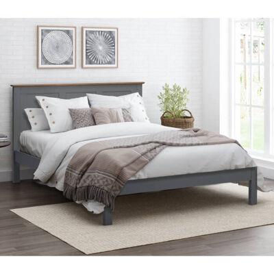 Flintshire Furniture Conway Heritage Grey Oak Bed Frame