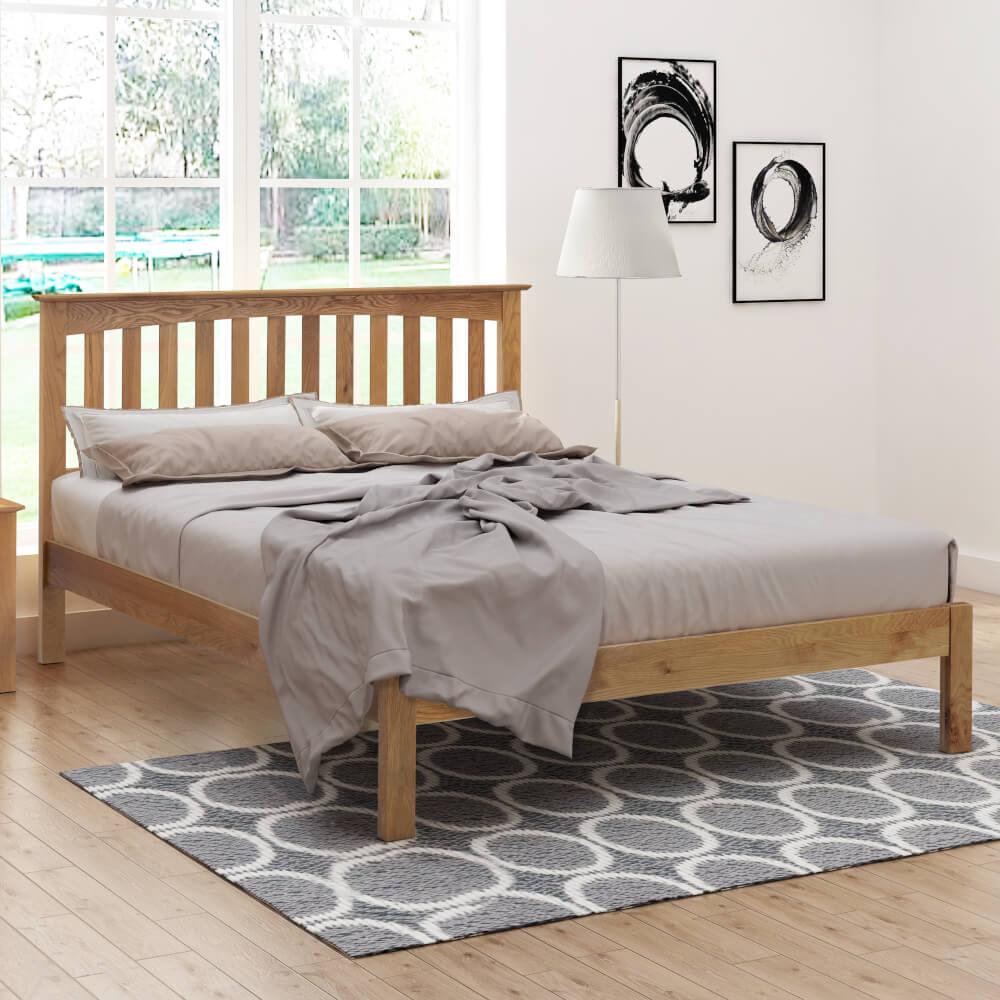 Flintshire Furniture Gladstone Oak Bed Frame