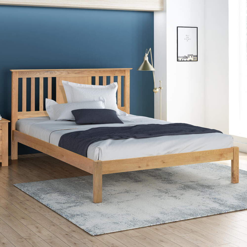 Flintshire Furniture Glynne Oak Bed Frame