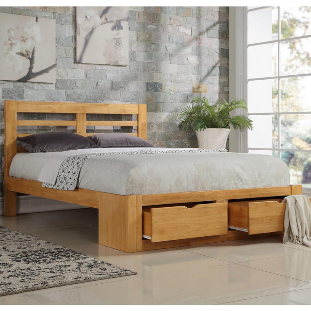 Flintshire Furniture New Bretton Oak Bed Frame