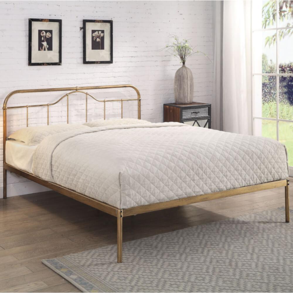 Flintshire Furniture Oakenholt Antique Bronze Bed Frame