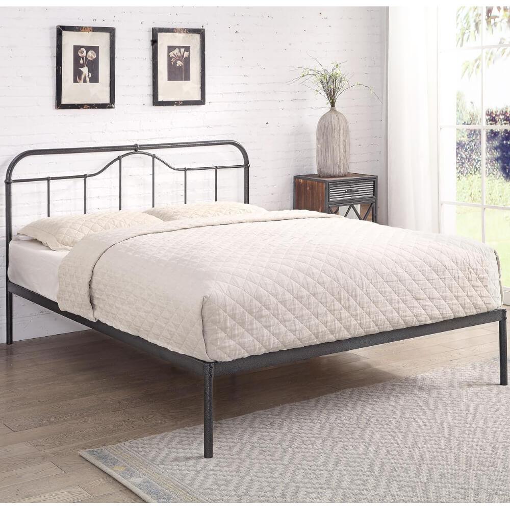 Double Flintshire Furniture Oakenholt Silver Bed Frame