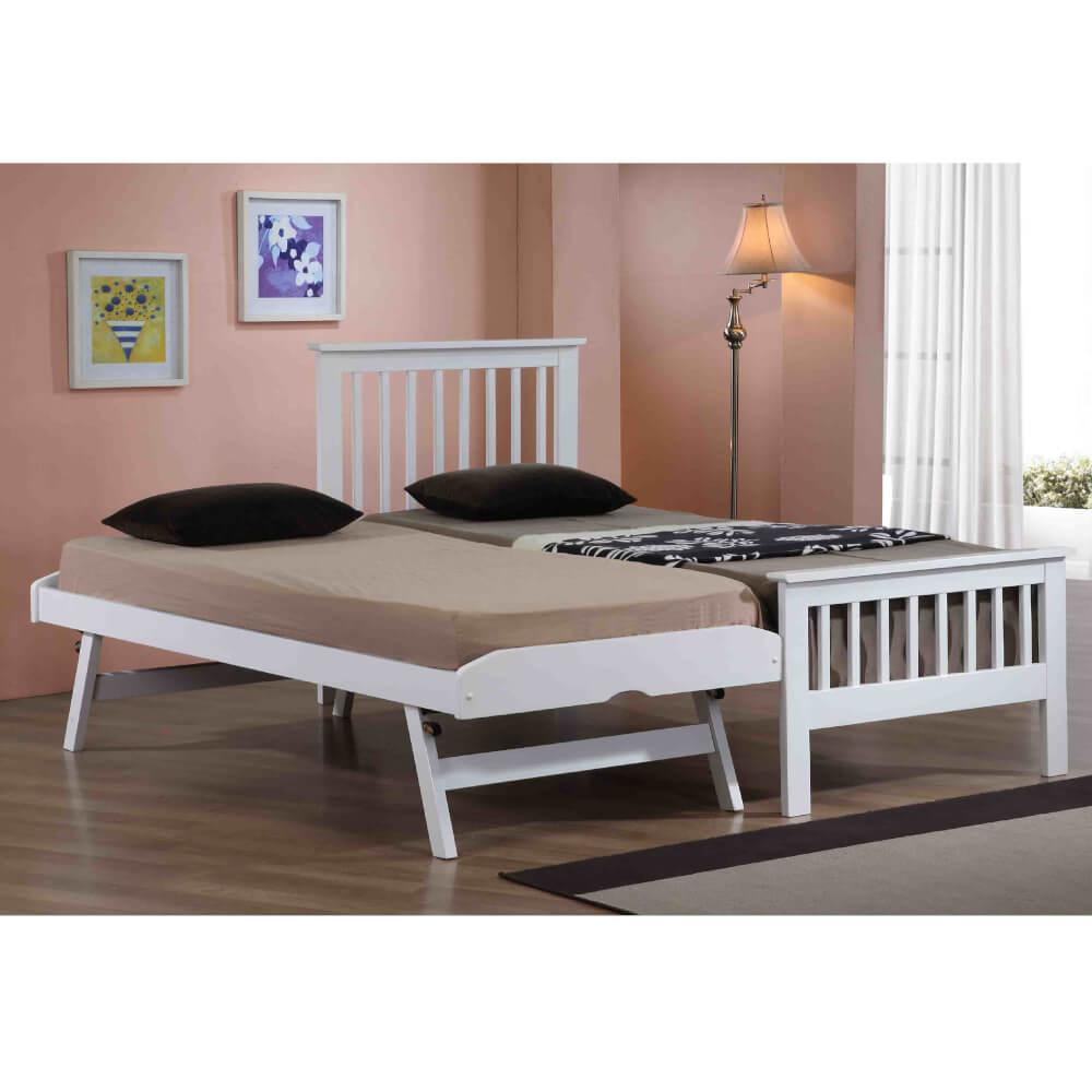 Flintshire Furniture Pentre White Guest Bed