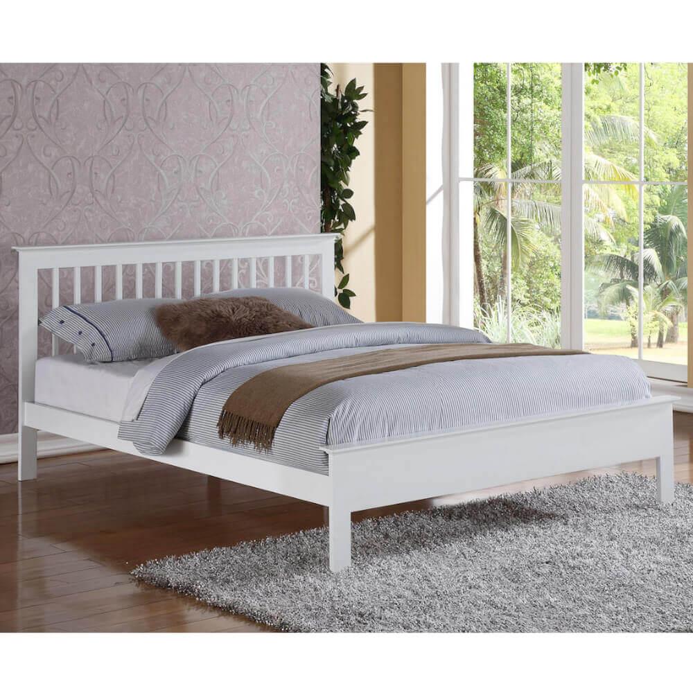 Flintshire Furniture Pentre White Bed Frame