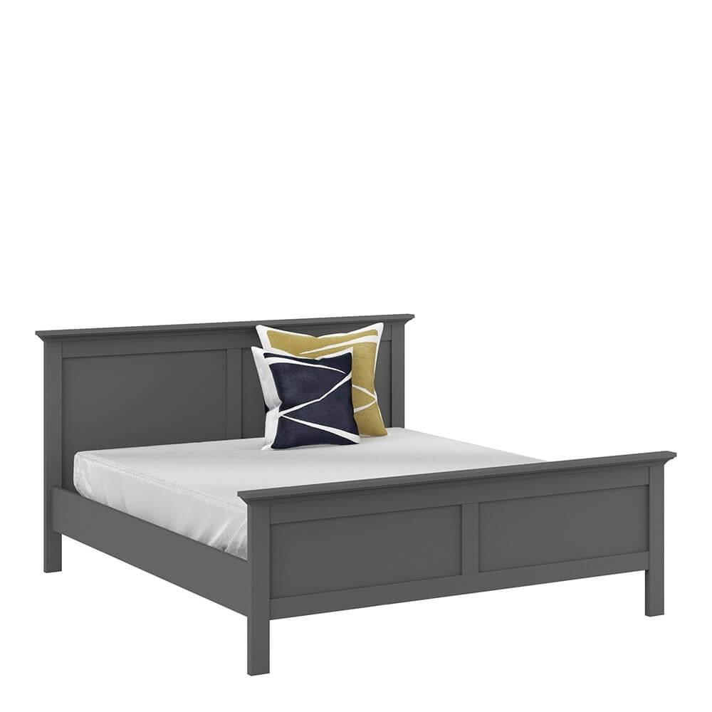 Paris Grey Bed Frame Super King Size