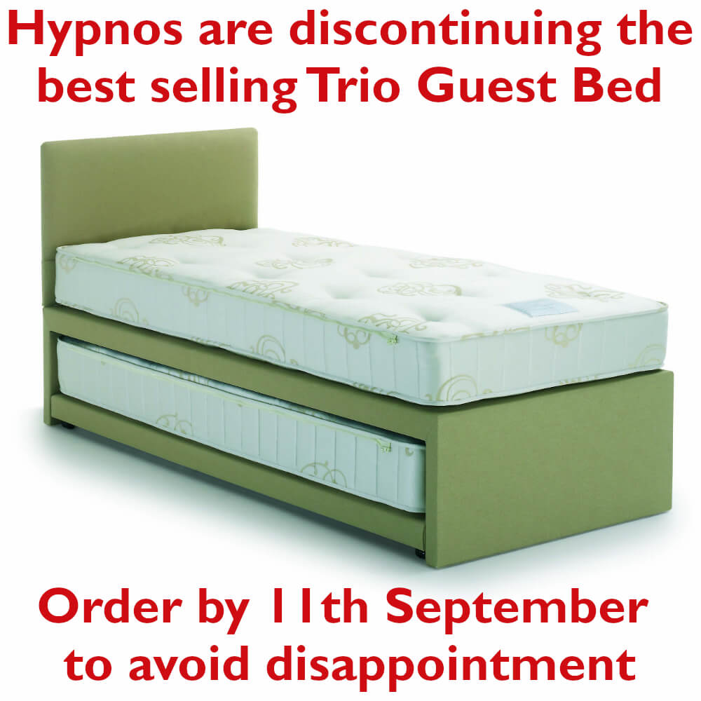 Small Single Hypnos Trio Guest Bed & Pocket Sprung Mattresses