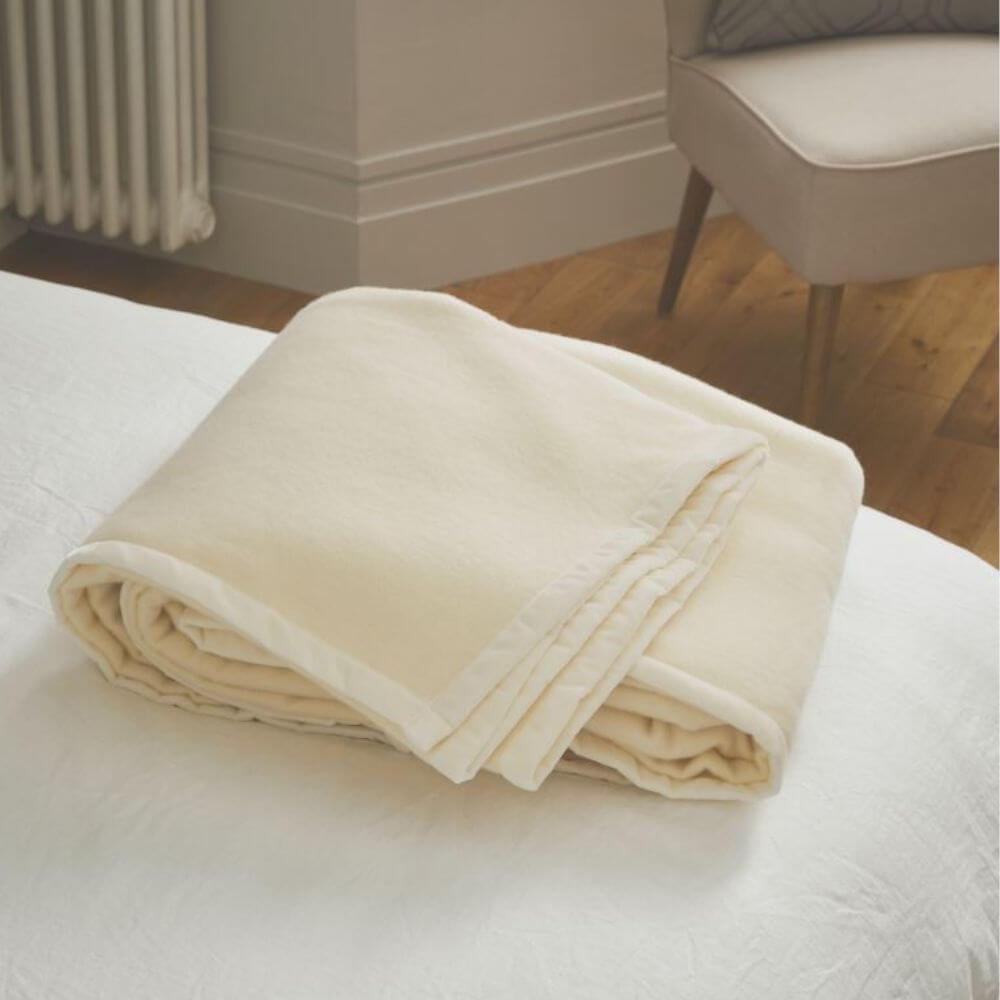 King Size John Atkinson Elizabeth Lambswool Blanket