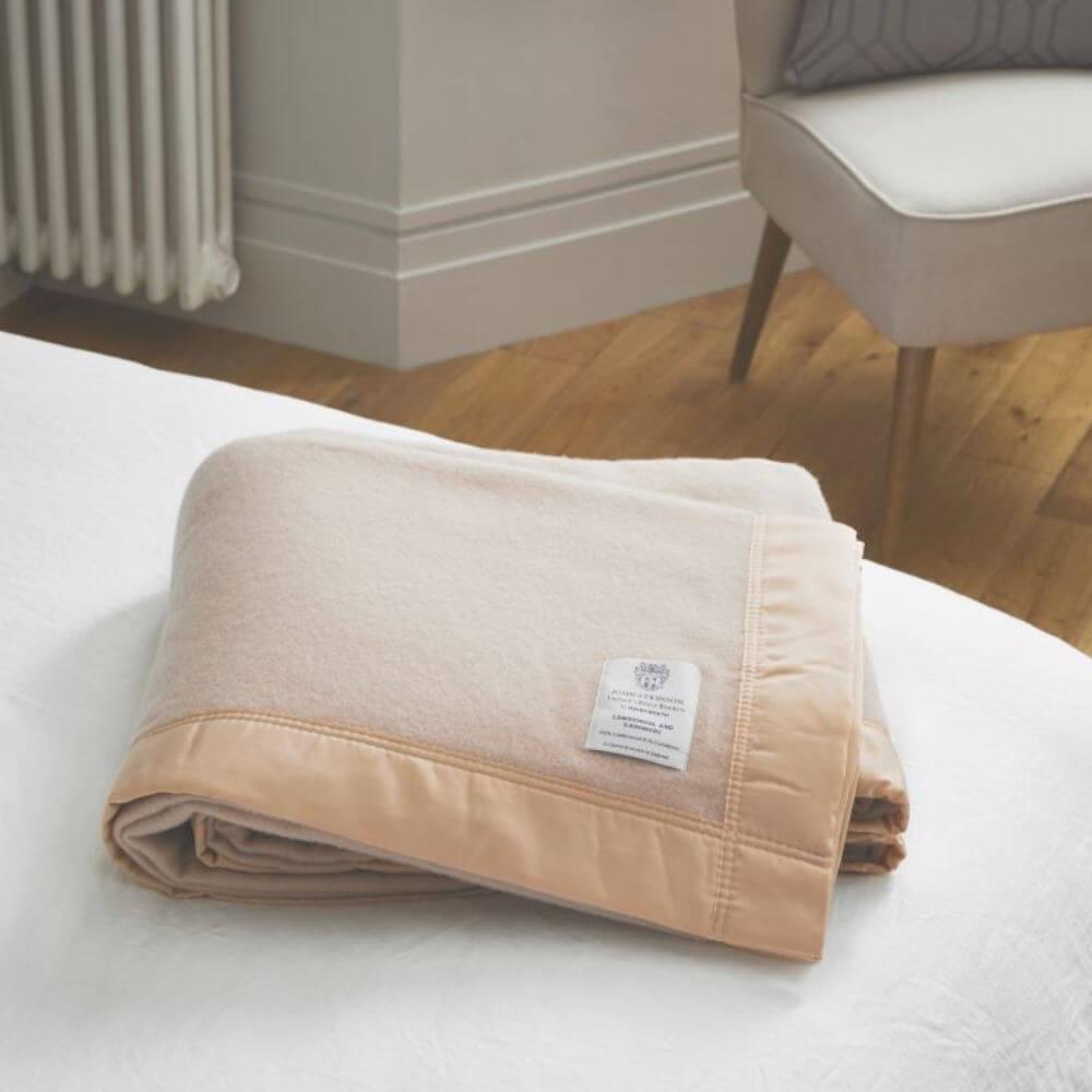 John Atkinson Lambswool & Cashmere Blanket