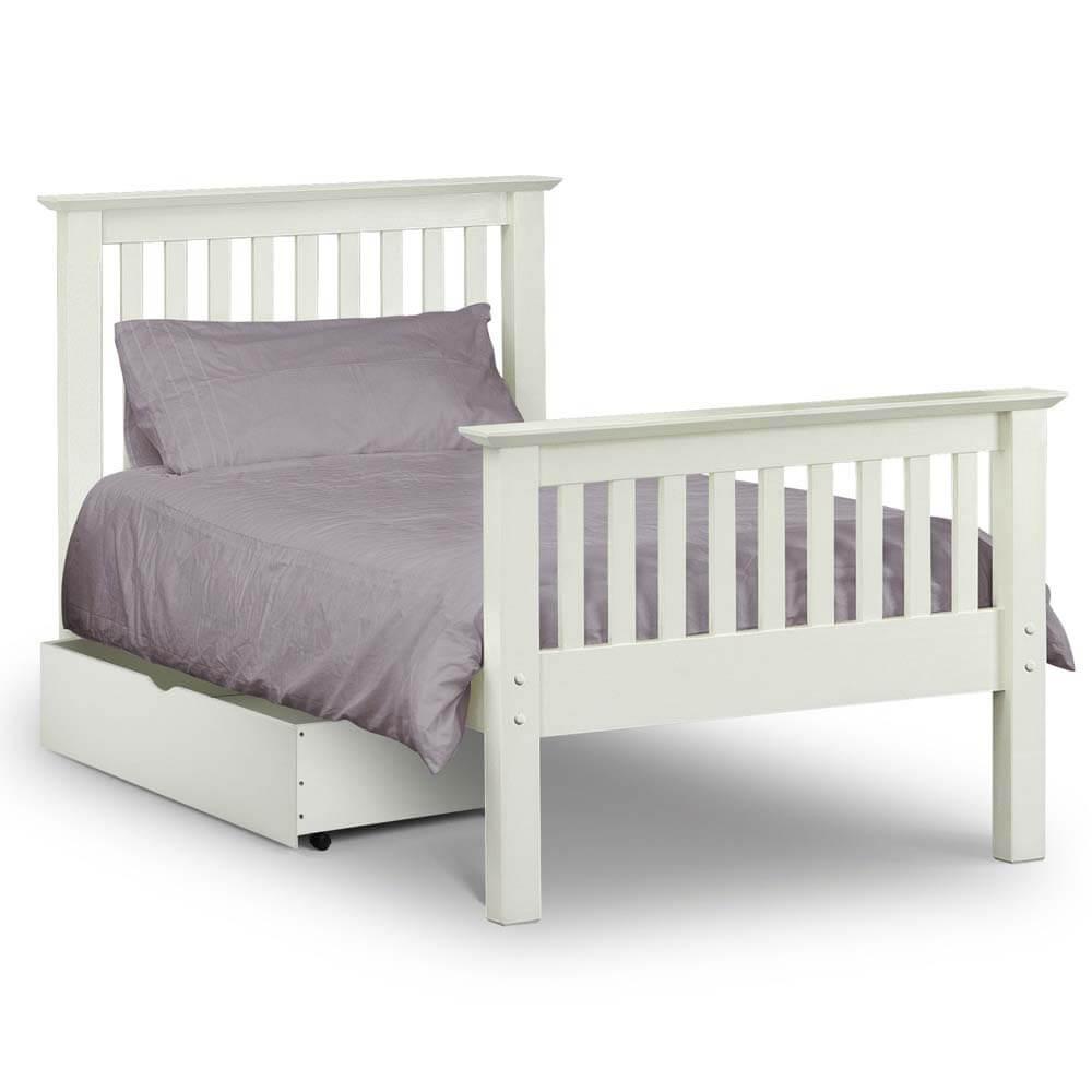 Julian Bowen Barcelona White High End Bed Frame