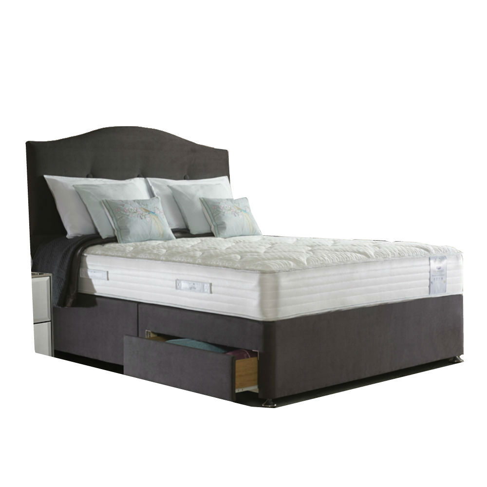 King Size Sealy Alder Wool Deluxe Ottoman Bed