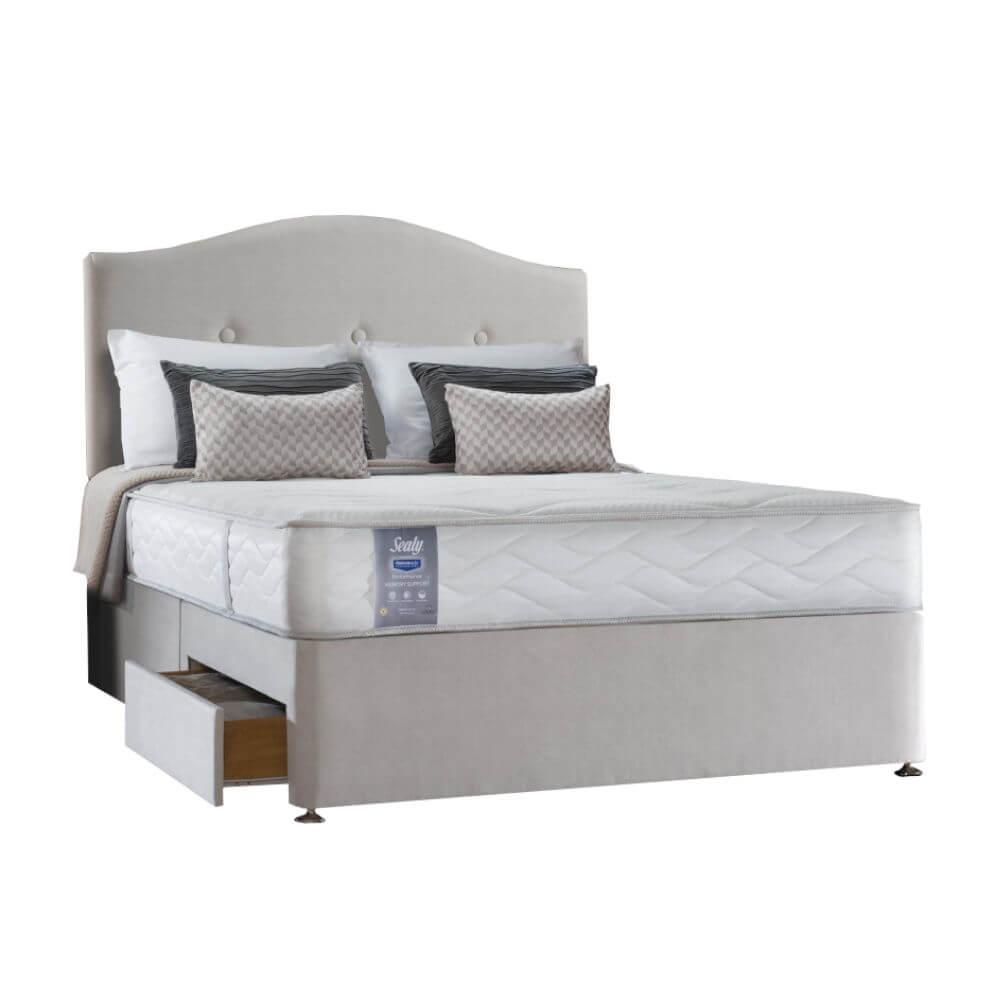 Super King Size Zip & Link Sealy Memory Support Divan Bed