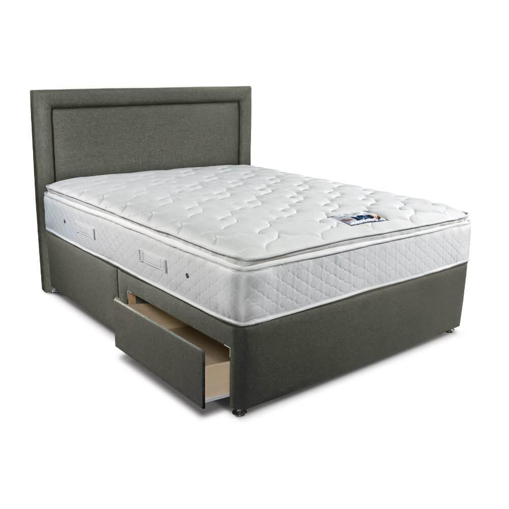 Double Sleepeezee Memory Comfort 1000 Divan Bed