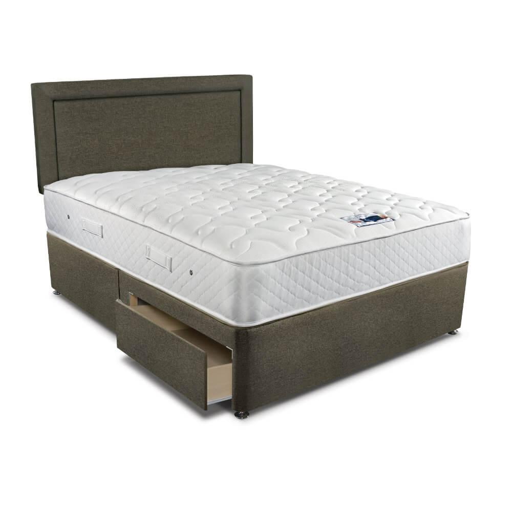 Double Sleepeezee Memory Comfort 800 Divan Bed