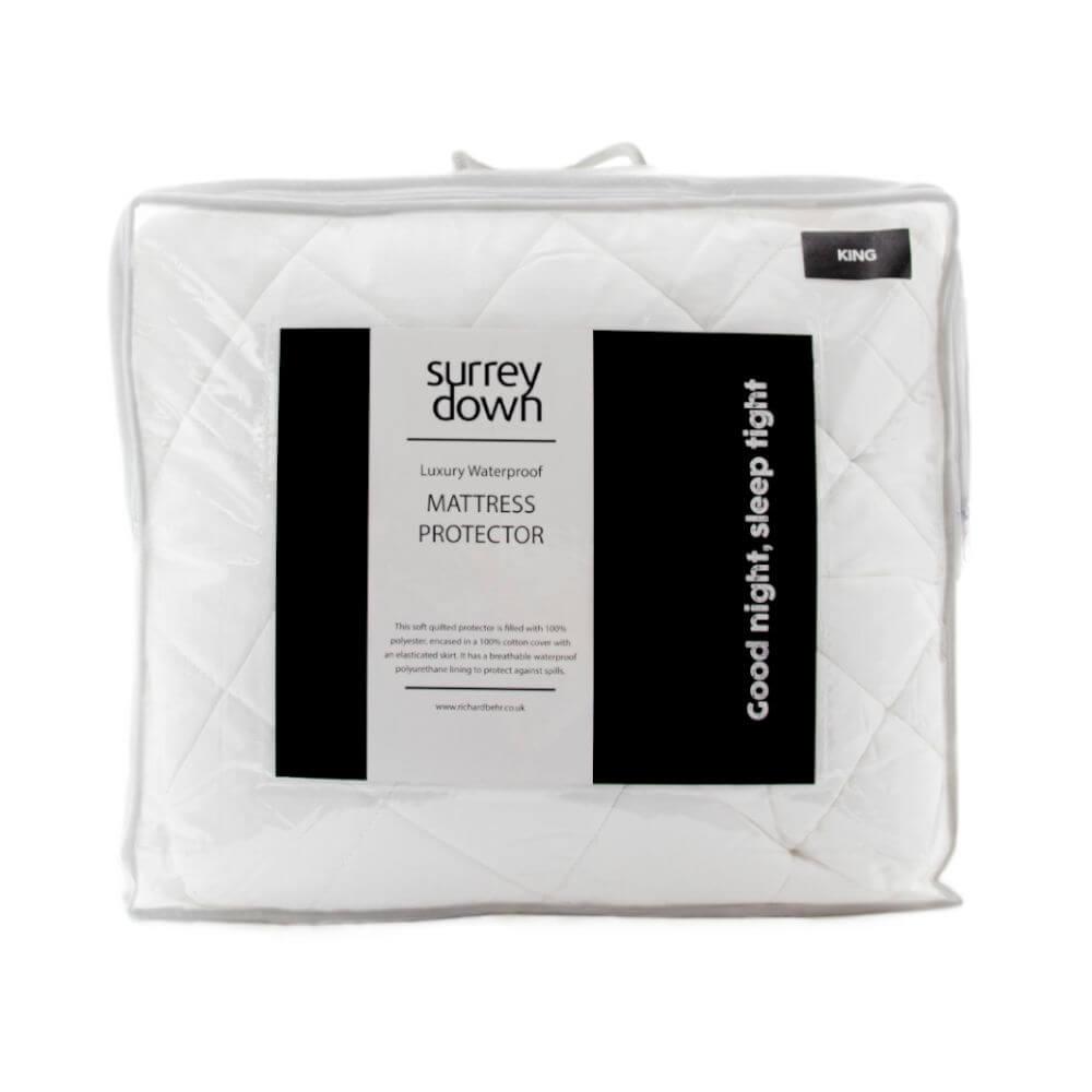 Surrey Down Waterproof Mattress Protector Double