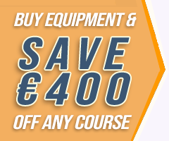 Buy Equipment & Save €400 off any course