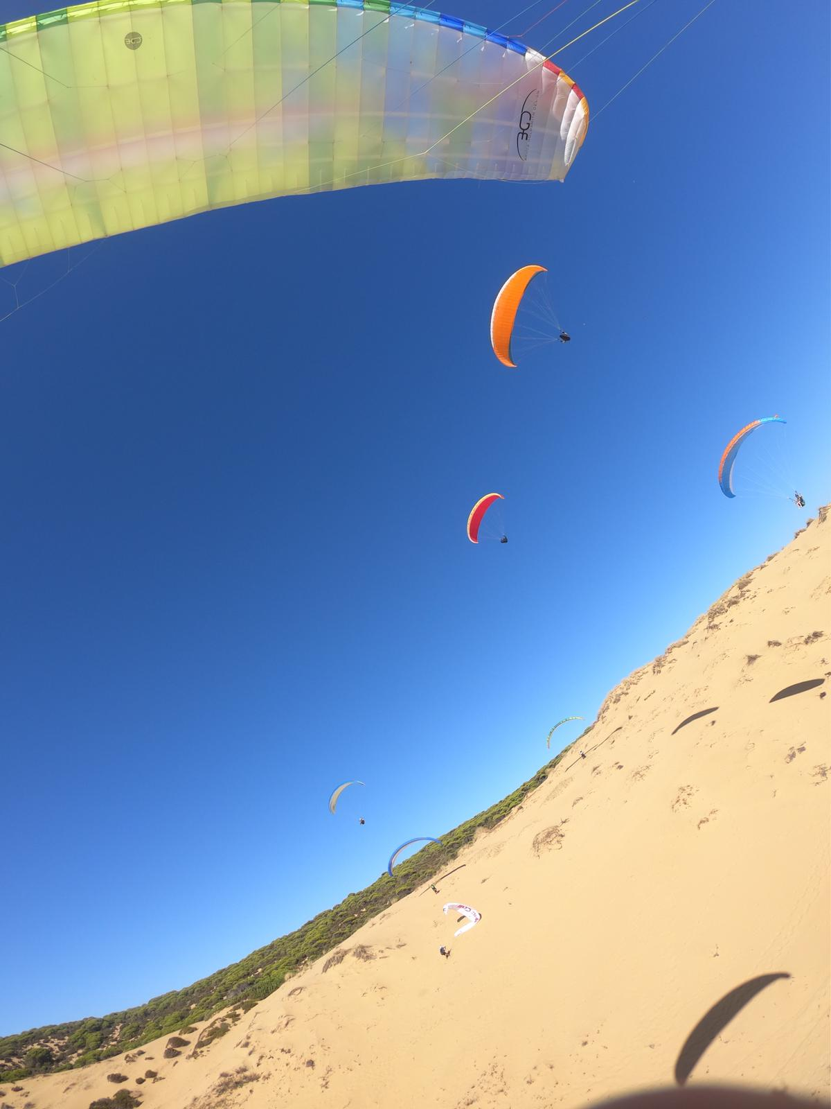 beach flying in Spain