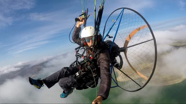 Learn to paramotor around the clouds