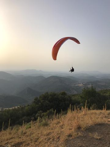 paragliding Soaring at Ronda la Vieja
