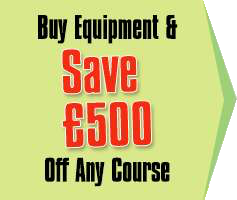 Buy Equipment Save £500 of Any Course