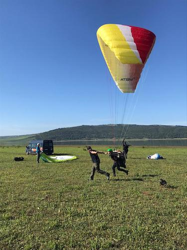 Ground handling for the paramotoring & paragliding students
