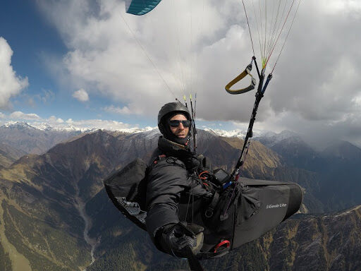 Paramotor holiday landing