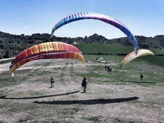 Paragliding practise makes pilots