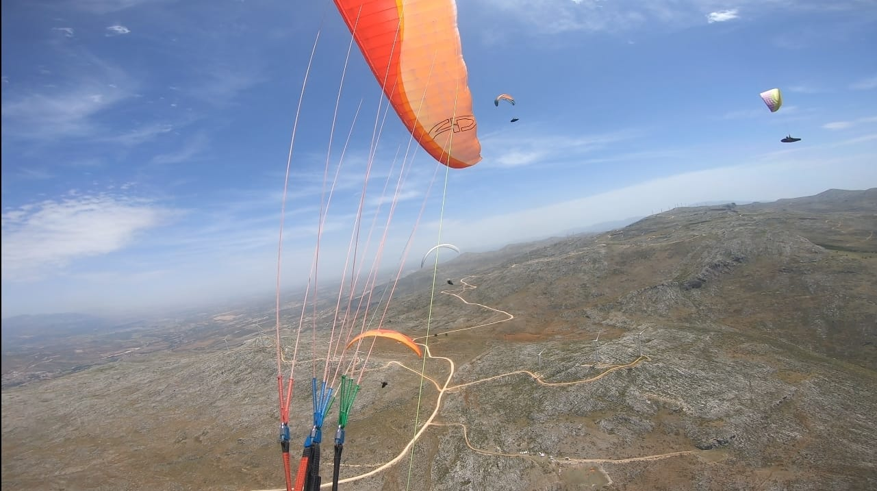 May in Spain paragliding is mega...